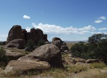 City of Rocks State Park, New Mexico Royalty Free Stock Photography