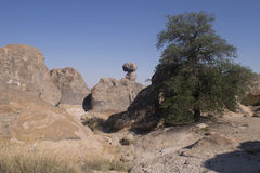 City of Rocks State Park rock formation. Stock Images