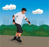 City roller skater Stock Image