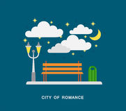 City of romance. Vector art Stock Images