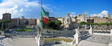 City of Rome. Panoramic view of Rome city, Italy stock photo