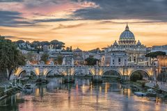 The city of Rome in the afternoon stock photography