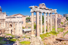 City Rome. Roman Forum Stock Image