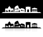 City of rome skyline Stock Photography