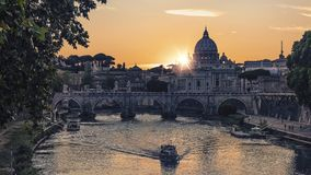 The city of Rome in the afternoon royalty free stock photography