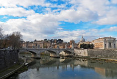 The City of Rome in Winter. A City View of Roma, Italia in Winter Royalty Free Stock Photo