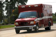 City of Romulus Michigan fire department ambulanc royalty free stock photos