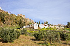 City of Ronda and Andalusia Countryside Royalty Free Stock Photos