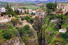 City of Ronda in Spain Stock Photography