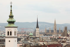 City from roof in Vienna, Austria Royalty Free Stock Images