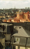 City roofs. Roofs of the old town in Nothern Europe royalty free stock photo