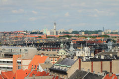 City roofs. Copenhagen, Denmark Stock Photos
