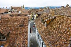 City roofs in Murten (Morat) Stock Photo