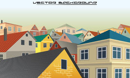 City Roofs. Vector Background Stock Photo