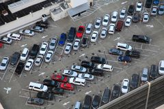 City Rooftop Parking Lot royalty free stock images