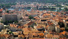 City rooftop view Vienne, France Stock Photography