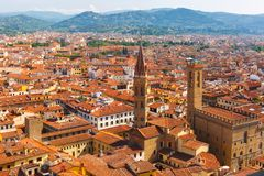 City rooftops and Bargello in Florence, Italy Royalty Free Stock Photo