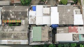City rooftops. With compact neighborhood,Bangkok Thailand Royalty Free Stock Photos