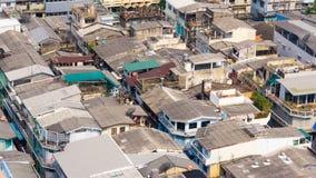 City rooftops. With compact neighborhood,Bangkok Thailand Royalty Free Stock Photography