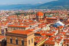 City rooftops and Medici Chapel in Florence, Italy Stock Photography