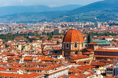 City rooftops and Medici Chapel in Florence, Italy Royalty Free Stock Images