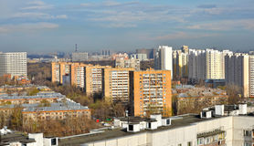 City rooftops. In the summer during the day in clear weather Royalty Free Stock Photography