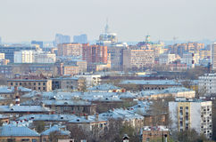 City rooftops. In the summer during the day in clear weather Royalty Free Stock Images