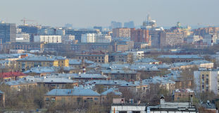 City rooftops. In the summer during the day in clear weather Stock Photos