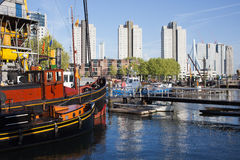 City of Rotterdam Cityscape in Netherlands Royalty Free Stock Photos
