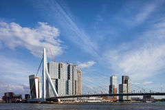 City of Rotterdam Downtown Skyline Royalty Free Stock Image