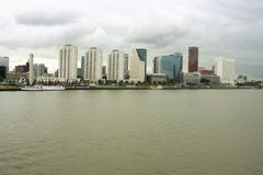 City of Rotterdam downtown skyline by the river in South Holland Stock Image