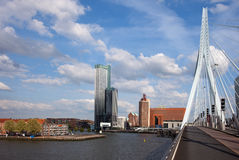 City of Rotterdam from Erasmus Bridge Royalty Free Stock Photo