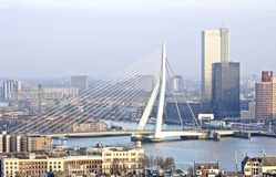 The city Rotterdam in Netherlands Stock Image