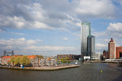 City of Rotterdam in Netherlands Royalty Free Stock Photo