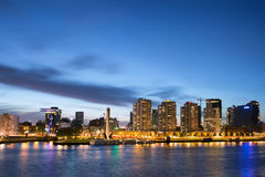 City of Rotterdam Skyline at Dusk Royalty Free Stock Images