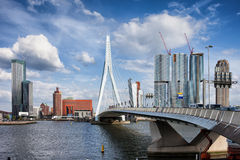 City of Rotterdam Skyline in Netherlands. City of Rotterdam downtown skyline in South Holland, the Netherlands Royalty Free Stock Photo