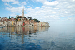 City of Rovinj. Mirroring at sea - Croatia, Istria Stock Photo