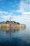City of Rovinj. Mirroring at sea - Croatia Stock Photos