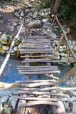 City ruins Olimpos bridge through a stream Royalty Free Stock Images