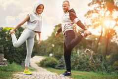 Free City Running Couple Jogging Outside. Runners Training Outdoors Working Out In Royalty Free Stock Photography - 185675857