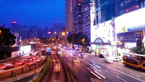 City Rush Hour Timelapse. Causeway Bay of Hong Kong. Wide Zoom Out Shot. City timelapse at night. Causeway Bay of Hong Kong. Corporate Buildings with commercial stock video
