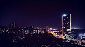 City that always on rush. One of the skylines of the mumbai city Stock Photography