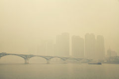 City's Air Pollution in Changsha Royalty Free Stock Photos