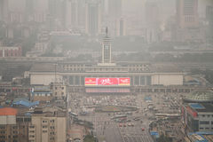 City's Air Pollution in Changsha Stock Images