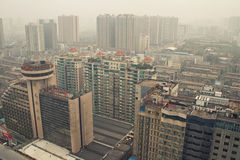 City's Air Pollution in Changsha Royalty Free Stock Images