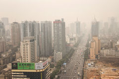 City's Air Pollution in Changsha Stock Photos