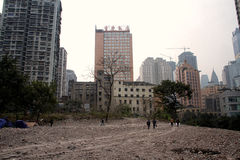 City's Demolition Site Royalty Free Stock Photography