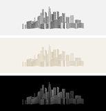 City's icon or background. The city's icon or background, vector Royalty Free Stock Photos