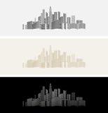 City& x27; s-Ikone oder -hintergrund Lizenzfreie Stockfotos