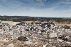 City's rubbish dump stock photography
